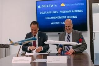 Vietnam Airlines và Delta Air Lines hợp tác kết nối Việt Nam-Mỹ