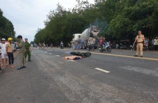 Xe môtô va chạm người đi bộ, 1 người tử vong
