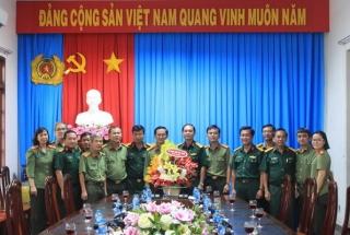 Bộ CHQS thăm, chúc mừng CA tỉnh
