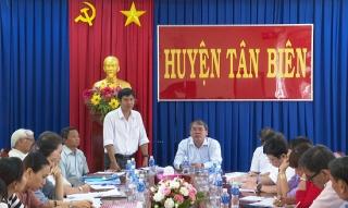 HĐND tỉnh khảo sát hoạt động của HĐND cấp xã tại Tân Biên