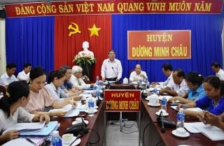 HĐND tỉnh: Khảo sát tình hình hoạt động của HĐND cấp xã tại huyện Dương Minh Châu