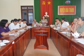Khảo sát hoạt động của HĐND cấp xã tại huyện Hòa Thành