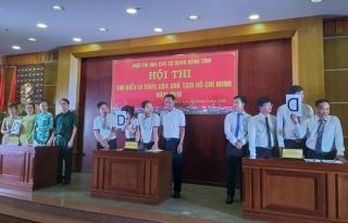 Khối thi đua các cơ quan Đảng tỉnh tổ chức thi tìm hiểu Di chúc của Chủ tịch Hồ Chí Minh