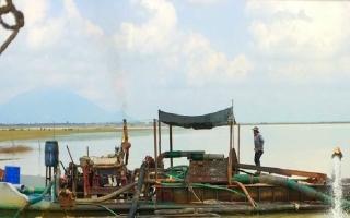 Phát hiện một vụ khai thác cát trái phép ở hồ Dầu Tiếng