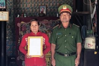 Truy phong quân hàm cho chiến sĩ công an Trần Văn Lành hy sinh khi cứu nạn