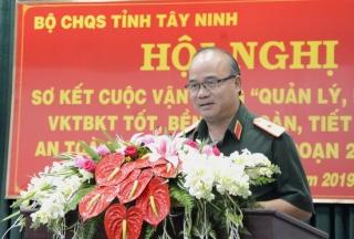 Bộ CHQS tỉnh sơ kết cuộc vận động 50, giai đoạn 2015-2019