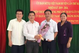 Trảng Bàng: Hiệp thương, bầu bổ sung Ủy viên và Phó Chủ tịch UB.MTTQVN huyện