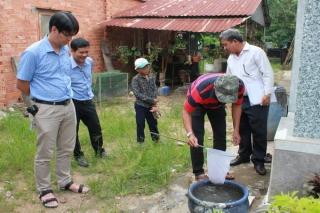 Viện Pasteur TP.Hồ Chí Minh kiểm tra, giám sát công tác phòng chống SXH tại Tân Châu