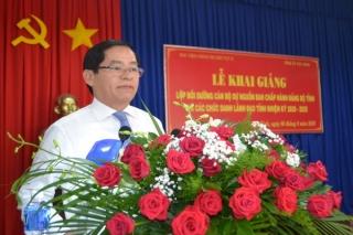 Khai giảng lớp bồi dưỡng cán bộ dự nguồn BCH Đảng bộ tỉnh
