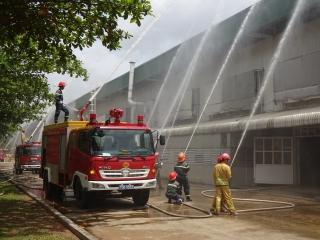 Thực tập phương án chữa cháy và cứu nạn cứu hộ tại Công ty PouLi Việt Nam