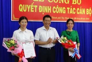Thành ủy Tây Ninh công bố Quyết định công tác cán bộ