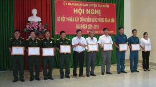 Tân Biên: Sơ kết 10 năm xây dựng nền quốc phòng toàn dân