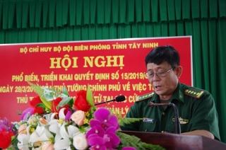 Biên phòng Tây Ninh: Phổ biến, triển khai Quyết định số 15 về thực hiện thủ tục biên phòng điện tử