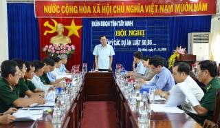 Đoàn ĐBQH tỉnh hội nghị góp ý dự án Luật Dân quân tự vệ (sửa đổi) và Luật Lực lượng dự bị động viên