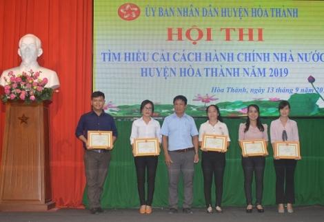Hòa Thành tổ chức hội thi tìm hiểu về công tác cải cách hành chính