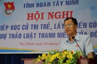 Tỉnh đoàn Tây Ninh: Lấy ý kiến góp ý cho Dự thảo Luật Thanh niên (sửa đổi)