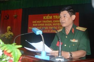 Quân khu 7: Kiểm tra Chỉ huy trưởng, Chính trị viên Ban CHQS huyện, thành phố trực thuộc tỉnh
