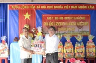 Lãnh đạo tỉnh chúc mừng đồng bào Khmer tại Tân Biên nhân lễ Sen Dolta