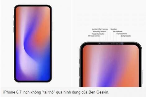 Apple đang tạo ra một mẫu iPhone không 'tai thỏ'