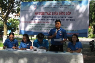 Thảo luận, đóng góp dự thảo văn kiện Đại hội đại biểu Hội LHTN tỉnh Tây Ninh