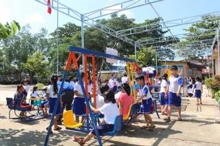 Khánh thành Cụm trò chơi thiếu nhi tại xã Tân Hội