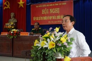 ĐBQH tiếp xúc cử tri huyện Bến Cầu, Châu Thành