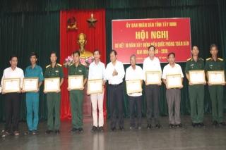 Tây Ninh: Sơ kết 10 năm xây dựng nền quốc phòng toàn dân