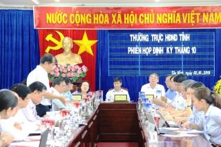 Thường trực HĐND tỉnh: Tổ chức phiên họp định kỳ tháng 10