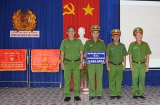 CATN: Khen thưởng đột xuất cho Đội CSĐT tội phạm về ma túy CA Hòa Thành