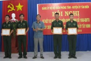 Tân Biên: Sơ kết 3 năm thực hiện đảng viên Đồn biên phòng tham gia sinh hoạt tại chi bộ ấp