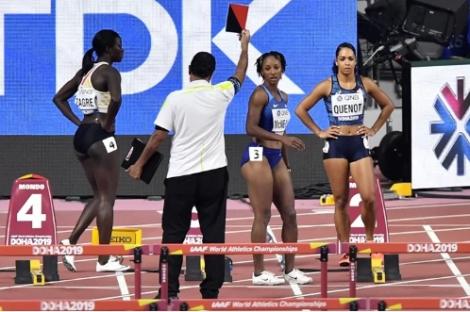 ĐKVĐ Olympic bị loại vì lỗi xuất phát 100m rào nữ