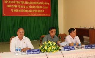 Tân Biên tổ chức hội nghị đối thoại giữa cấp uỷ, chính quyền với người dân
