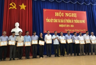 Châu Thành: 75 người trúng cử trưởng ấp, trưởng khu phố