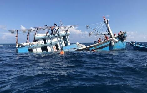 Cứu nạn và đưa 12 ngư dân bị nạn về đất liền an toàn