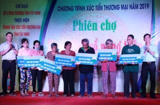 Khai mạc phiên chợ Hàng Việt về nông thôn tại Hoà Thành