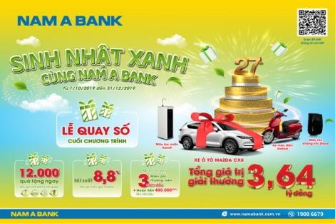 Cơ hội rước xe sang mừng sinh nhật Nam A Bank