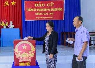 Tân Châu bầu cử trưởng ấp, khu phố nhiệm kỳ 2019-2024