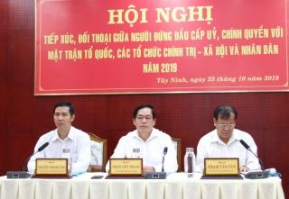 Hội nghị đối thoại giữa người đứng đầu cấp ủy, chính quyền với MTTQ và các tổ chức chính trị-xã hội, nhân dân