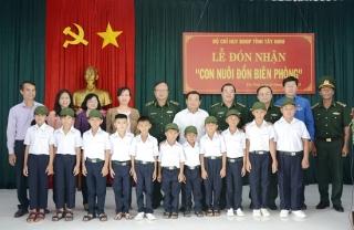 """BĐBP Tây Ninh: Đón nhận 11 """"Con nuôi đồn biên phòng"""""""