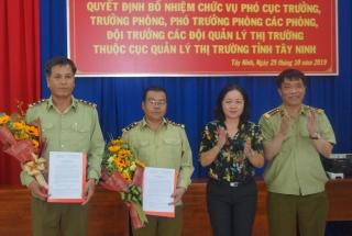 Bổ nhiệm Cục phó Cục Quản lý thị trường Tây Ninh