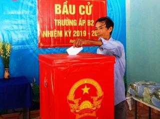 Xã Phước Minh hoàn thành công tác bầu cử trưởng ấp nhiệm kỳ 2019-2024