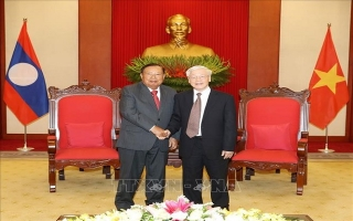 Chủ tịch nước Nguyễn Phú Trọng tiếp Tổng Bí thư, Chủ tịch nước Lào.
