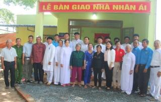 Bàn giao 5 căn nhà nhân ái ở huyện Dương Minh Châu