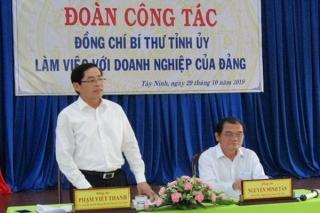 Bí thư Tỉnh ủy làm việc với các doanh nghiệp của Đảng