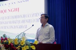 Hội nghị chuyên đề về công tác chuẩn bị và tổ chức đại hội đảng bộ các cấp tiến tới Đại hội XIII của Đảng