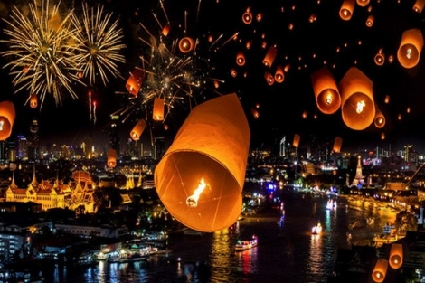 Thái Lan hủy gần 100 chuyến bay phục vụ Lễ hội thả đèn hoa đăng Loy Krathong 2019
