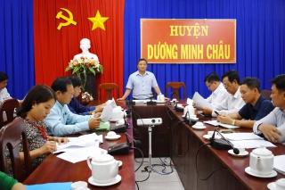 Ban Kinh tế- Ngân sách HĐND tỉnh: Giám sát tình hình thu hồi đất tại huyện Dương Minh Châu