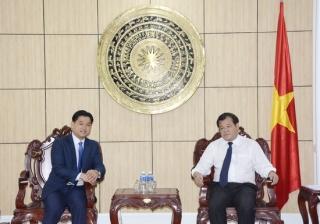Chủ tịch UBND tỉnh: Tiếp xã giao Tổng lãnh sự Vương quốc Campuchia tại TP.Hồ Chí Minh