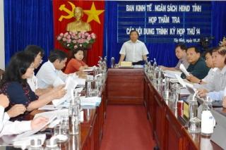 Ban Kinh tế- Ngân sách HĐND tỉnh thẩm tra nội dung trình kỳ họp thứ 14