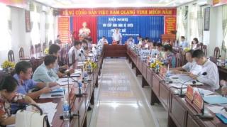 Tân Biên: Hội nghị đột xuất chuẩn bị Đại hội Đảng các cấp